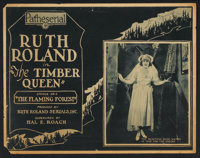 """The Timber Queen (Pathé, 1922) Title Lobby Card (11"""" X 14"""") Episode 2 -- """"The Flaming Forest.""""..."""