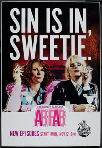 """Absolutely Fabulous (Comedy Central, 1990s). Bus Shelter (48"""" X 70"""") DS. Miscellaneous"""