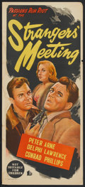 "Movie Posters:Crime, Strangers' Meeting (BEF Film Distributors, 1957). AustralianDaybill (13"" X 30""). Crime.. ..."