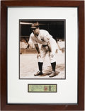 Baseball Collectibles:Tickets, October 1, 1939 New York Yankees Ticket with Lou Gehrig Photo. ...