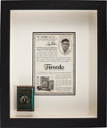 Baseball Collectibles:Others, Circa 1910 Ty Cobb Tuxedo Tobacco Advertisement and Tin. ...