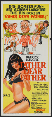 "Father Dear Father (Rank, 1973). Australian Daybill (13"" X 30""). Comedy"