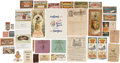 Advertising:Paper Items, Large Lot of Printed Chocolate and Candy Labels and Advertising...