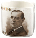 Political:Advertising, Woodrow Wilson: Hanging China Match Holder....