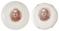 Political:Advertising, William Jennings Bryan: Two Portrait Plates.... (Total: 2 Items)