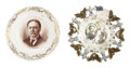 Political:3D & Other Display (1896-present), William Howard Taft: Two Portrait Plates.... (Total: 2 Items)