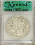 1885-CC $1 --Rim Filed--XF45 ICG. XF45 Details. NGC Census: (0/7154). PCGS Population (6/16351). Mintage: 228,000. Numis...