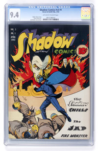 Shadow Comics V3#1 (Street & Smith, 1943) CGC NM 9.4 Off-white to white pages