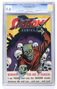 Shadow Comics V3#12 (Street & Smith, 1944) CGC VF/NM 9.0 Off-white to white pages