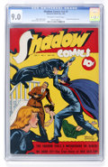 Golden Age (1938-1955):Crime, Shadow Comics V3#2 (Street & Smith, 1943) CGC VF/NM 9.0 Off-white to white pages....