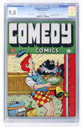 Golden Age (1938-1955):Humor, Comedy Comics #11 (Timely, 1942) CGC VF/NM 9.0 Off-white pages....