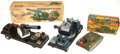 Antiques:Toys, Lot of Three Japanese Tin Battery Operated Military Vehicles....(Total: 3 Items)