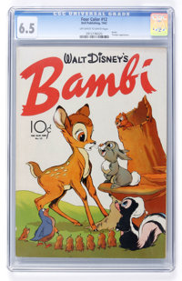 Four Color #12 Bambi (Dell, 1942) CGC FN+ 6.5 Off-white to white pages