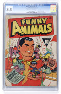 Golden Age (1938-1955):Cartoon Character, Fawcett's Funny Animals #1 (Fawcett, 1942) CGC VF+ 8.5 Off-white to white pages....