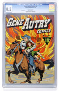 Golden Age (1938-1955):Western, Gene Autry Comics #4 (Fawcett, 1943) CGC VF+ 8.5 Off-white pages....