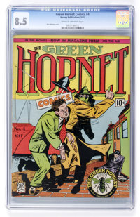 Green Hornet Comics #4 (Helnit, 1941) CGC VF+ 8.5 Cream to off-white pages