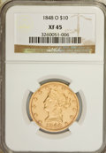 Liberty Eagles: , 1848-O $10 XF45 NGC. NGC Census: (43/77). PCGS Population (26/31).Mintage: 35,850. Numismedia Wsl. Price for NGC/PCGS coin...