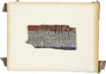 Political:Presidential Relics, Abraham Lincoln: Bunting Fragment from the 1861 Inaugural Train....