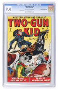 Golden Age (1938-1955):Western, Two-Gun Kid #2 Mile High pedigree (Marvel, 1948) CGC NM 9.4Off-white to white pages....