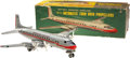 Antiques:Toys, Linemar Battery Operated American Airlines DC-7 Airplane in the Original Box....