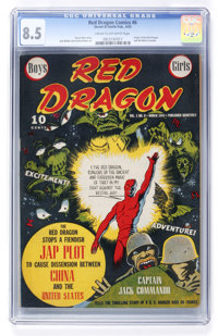 Red Dragon Comics #6 (Street & Smith, 1943) CGC VF+ 8.5 Cream to off-white pages