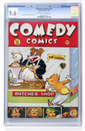 Golden Age (1938-1955):Funny Animal, Comedy Comics #12 (Timely, 1942) CGC NM+ 9.6 Off-white to whitepages....