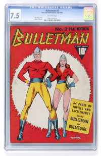 Bulletman #2 (Fawcett, 1941) CGC VF- 7.5 Off-white pages