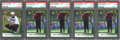 Golf Cards:General, 2001 Upper Deck Golf PSA-Graded Collection (5).... (Total: 5 cards)