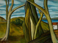 Fine Art - Painting, American:Modern  (1900 1949)  , VINCENT CANADÉ (American, 1879-1961). Trees. Oil on board.16-1/2 x 22 inches (41.9 x 55.9 cm). Signed lower right:V...
