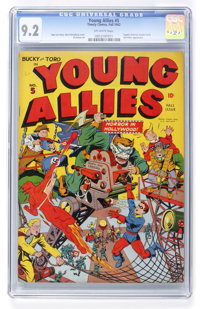 Young Allies Comics #5 (Timely, 1942) CGC NM- 9.2 Off-white pages