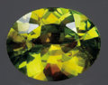 Gems:Faceted, RARE GEMSTONE: COLOR CHANGE CHROME SPHENE (TITANITE). ...