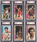 Basketball Cards:Lots, 1976-77 Topps Basketball PSA-Graded Collection (19)....