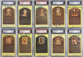 Autographs:Post Cards, Hall of Fame Plaque Postcard Collection (10) PSA/DNA CertifiedAuthentic. . ...