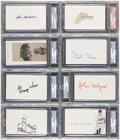 Autographs:Index Cards, Baseball Signed Index Card Collection (28) PSA/DNA CertifiedAuthentic....