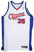 Basketball Collectibles:Uniforms, Chris Kaman Los Angeles Clippers Signed Game Used Jersey. ...