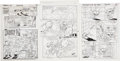 Original Comic Art:Panel Pages, Walter Cazon, Many Galan and Jim Amash Pinky and the Brain and Sonic, the Hedgehog Page Original Art G... (Total: 3 Items)