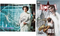 Princess Leia Organa Star Wars Celebration II Photograph Autographed by Carrie Fisher and Atomika #4 Comic Signed by M...