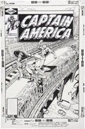 Original Comic Art:Covers, George Perez and Terry Austin Captain America #246 Cover Original Art (Marvel, 1980)....