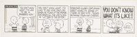 Charles Schulz Peanuts Daily Comic Strip Original Art dated 11-21-63 (United Feature Syndicate, 1963)