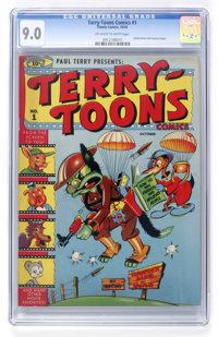 Terry-Toons Comics #1 (Timely, 1942) CGC VF/NM 9.0 Off-white to white pages