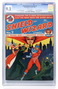 Golden Age (1938-1955):Superhero, Shield-Wizard Comics #2 (MLJ, 1940) CGC NM- 9.2 Off-white pages....