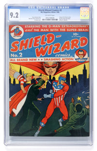 Shield-Wizard Comics #2 (MLJ, 1940) CGC NM- 9.2 Off-white pages