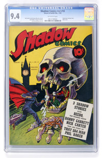Shadow Comics V2#10 (Street & Smith, 1943) CGC NM 9.4 Off-white pages