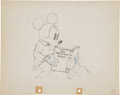 Animation Art:Production Drawing, Mickey Plays Papa Animation Production Drawing Original Art (Disney, 1934)....