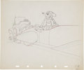 Animation Art:Production Drawing, Mickey's Rival Animation Production Drawing Original Art(Disney, 1936)....