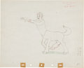 Animation Art:Production Drawing, Fantasia Brudus Animation Production Drawing Original Art(Disney, 1940)....