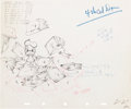 Animation Art:Production Drawing, The Autograph Hound Animation Production Drawing OriginalArt Group of 2 (Disney, 1939).... (Total: 2 Items)