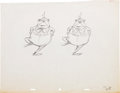 Animation Art:Production Drawing, Alice in Wonderland Animation Production Drawing OriginalArt (Disney, 1951)....