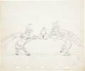 Animation Art:Production Drawing, Woodland Cafe Animation Production Drawing Original Art (Disney, 1937)....