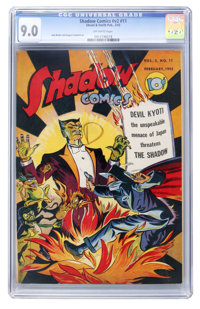 Shadow Comics V2#11 (Street & Smith, 1943) CGC VF/NM 9.0 Off-white pages